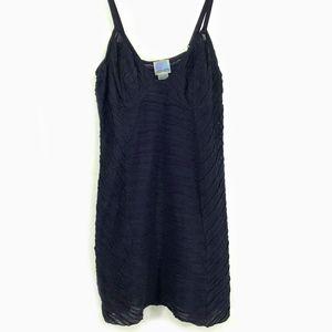 Free People Textured Knit Cotton Night Mini Dress